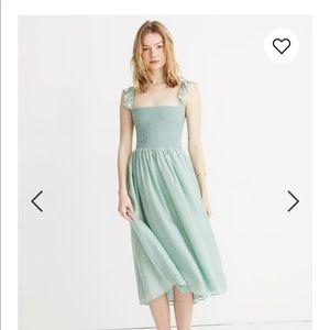 Madewell raffle strap smocked dress